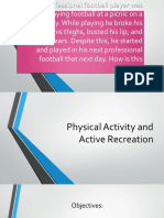 physical activity and active recreation