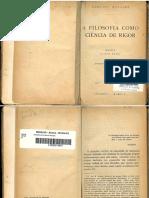 A filosofia como ciência de rigor - Edmund Husserl - tradução portuguesa