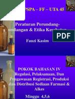 03 Regulasi, pelaksanaan, dan pengawasan produksi  dan distribusi Sediaan Farmasi & Alkes
