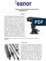 Ball Screw Accuracy Pitch and Torque Inspection With Laser Interferometer - Application Case