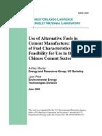 Alternate Fuel in Cement Plant