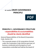 Part II C 8 Corporate Governance Principles
