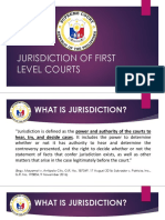 1. J. RHEMontesa-JURISDICTION - FIRST LEVEL COURTS