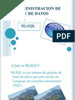 Admin is Trac Ion de Base de Datos