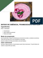 BATIDO DE AMÊNDOA C