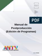 MANUAL DE PROCEDIMIENTOS DE EDICIÓN