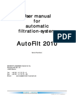 User Manual Autofilt2010 - Schmidt Haensch