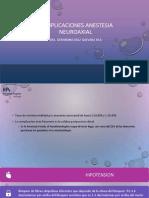 complicaciones anestesia neuroaxial