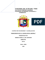 Monografia de la legislación laboral en el Perú