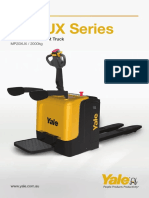 Yale Electric Rider Pallet Truck - MP20XUX - A4 Brochure - Low Res
