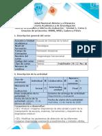Guía de actividades y rúbrica de evaluación - Unidad 1, Tarea 2. Creación de protocolos