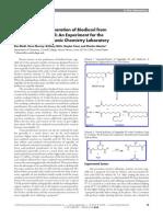 Acid-Catalyzed Preparation of Biodiesel from Waste Vegetable Oil