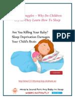 Sleep Struggles – Why Do Children Cry As They Learn How To Sleep