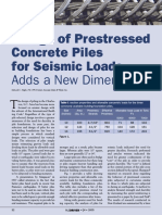 Design of Prestressed Concrete Piles for Seismic Loads Adds a New