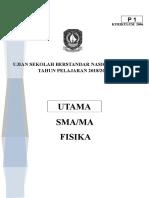 SOAL USBN FISIKA PAKET UTAMA TP 2019