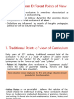 Types of Curriculum Operating in Schools