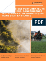 Rapport sur les pesticides dans l'air en France