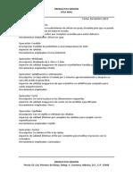 Ficha técnica operaciones para la creación y producción de una silla