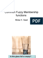 Common Fuzzy Membership Functions