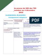 La revue de presse de SES des TES du 29novemebre au 4 décembre
