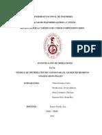 Tercer Avance Investigación de Operaciones-jueves 14 de Febrero