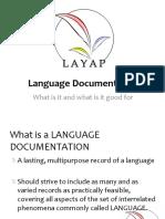 The Essentials of Language Documentation