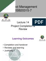 Project Management APU Lec 14