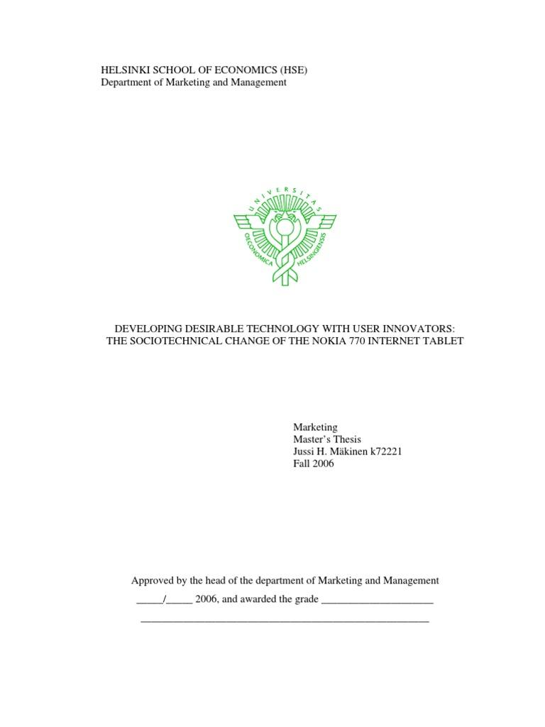Master thesis nokia