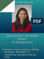 Opportunities in the Global Market for Entrepreneurs FINAL