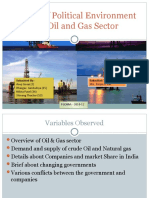 Effect of Political Environment on Oil and Gas