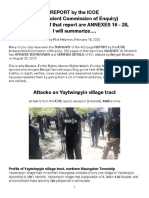 ICOE-Yaytwinpyin Attacks, Summarized