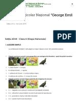 "Concurs Național ""George Emil Palade"" - clasa a VI-a"