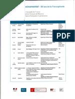 Programme Francophonie 2020