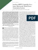 A Novel Sensor Less MPPT Controller for A