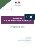 Rapport Mission Haute Fonction Publique