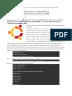 Ubuntu 8.04 Autenticando No AD Do Windows Server 2003