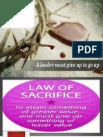 Law of Sacrifice