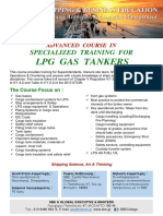 ADVANCED COURSE IN SPECIALIZED TRAINING FOR LPG  GAS TANKERS