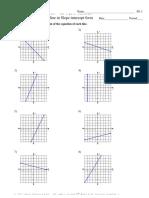Equation of a line worksheet