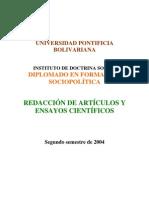 REDACCIÓN DE ARTÍCULOS Y ENSAYOS CIENTÍFICOS