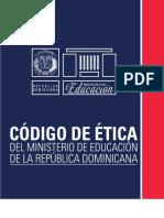 Codigo de Etiqueta Ministerio de Educacion de la Republica Dominicana 2019