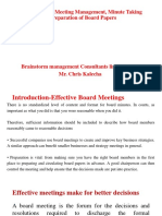 Introduction to Meeting Management, Minute Taking &.ppt