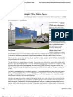 """""""First Commercial Hydrogen Filling Station Opens""""  (from IEEE Spectrum)"""