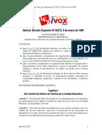 DS-25273 - organozacion y atribuciones de la junta escolar