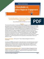 University Roundtable on Transformative Regional Engagement