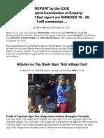 ICOE-Yay Nauk Ngar Thar, Summarized