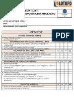 CHECK - LIST - SEGURANÇA DO TRABALHO - LOTUFO