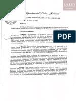 Resolución Administrativa N° 016-2020-CE-PJ