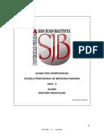 Sílabo Biología Molecular 2019-II