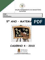 Caderno 4 - 5º ano - matemática 2010
